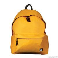 22128f48b1b5 Рюкзак BRAUBERG, универсальный, сити-формат, один тон, желтый, 20 литров